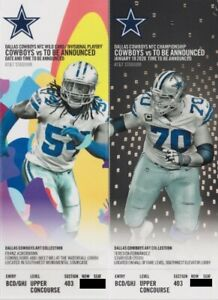 "DALLAS COWBOYS ""PHANTOM"" 2020 NFC PLAYOFF & CHAMPIONSHIP TICKETS  @ AT&T STADIUM"