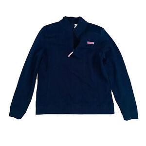 Vineyard Vines Martha's Vineyard Women's Size M Navy Quarter Zip Jumper Pullover