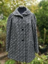 BOHO HIPPIE ZEBRA STRIPE WOOL MIX COAT.SIZE 14