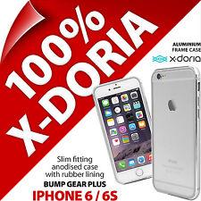 X-Doria Bosse Gear Avec Étui Aluminium Étui Fin pour Apple iPhone 6 / 6S Argent