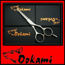 "Ookami 5""  Pro Hairdressing Scissors Hair Shears Salon RZ 50 + Razor + clip"
