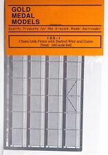 Gold Medal Models 160-1 - Chain Link Fence W/Gates - N Scale