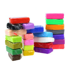 Bon bloc 24pcs malléable Fimo Soft Polymer Pâte à modeler Plasticine bricolage