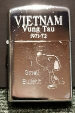 "Retro Copy Vietnam War Style Wind Proof Lighter: Snoopy ""I Smell Bull-sh#t"""