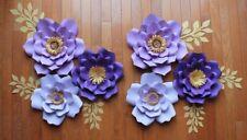 6 Paper flowers set nursery paper flowers, large paper flowers, nursery decor