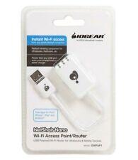 Lot of 10-IOGear NetShair Nano-Ultra Portable USB Wi-Fi Router GWPAP1)