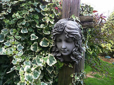 (NEW) Rose Girl Wall/Tree Plaque,Garden Ornament,Stone ornaments ~Stunning Girl~