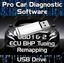 OBD1 & OBD2 CAR DIAGNOSTIC SOFTWARE ECU BHP TUNING REMAPPING ELM 327 USB DRIVE