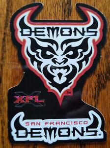 XFL San Francisco Demons Football Logo Sticker 2001 SF Vintage Rare WWE WWF