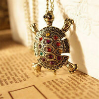 Fashion Jewelry  Alloy Rhinestone Tortoise Turtle Pendant Necklace Chain Gift