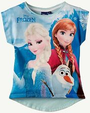 NEUF ✿❀ T-shirt top DISNEY fille ✿❀ La Reine des Neiges FROZEN ✿❀ 5 ans 108 cm