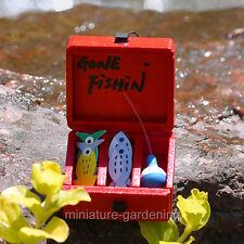 Miniature Fairy Garden Gone Fishing Tackle Box
