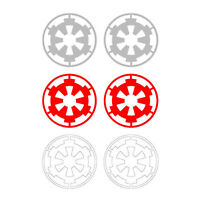 Star Wars Tie Fighter or AT- AT Pilot Imperial Cog Sticker Decal Set Cosplay