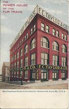 Postcard Missouri St Louis FC Taylor & Co. Great Fur District 1909