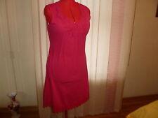 NWT ESCADA SPORT Erulace sleeveless dress+lace details in medium pink size 40/10