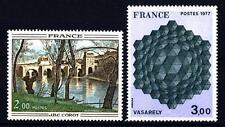 FRANCIA - Quadri di Francia - 1977 - Opere di Corot e Vasarely