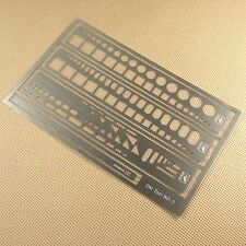 New Stainless steel PE Photo etched Tools Scribing Panel Rivet Template DT02