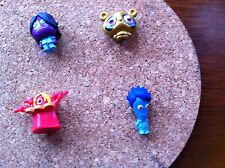 4 MOSHI MONSTERS FIGURES, 12 MASH UP CARDS PLUS 3 CODE BREAKERS