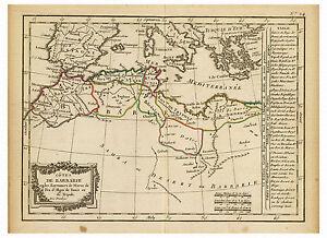 North Africa Maghreb Barbary Coast Morocco Algeria map Lattre Delamarche ca.1800
