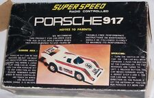 Vintage Super Speed RC Radio Controlled PORSCHE 917 Toy Sports Car COOL!