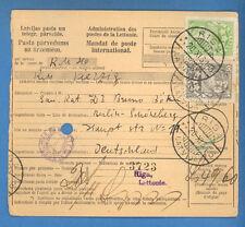 1931 LATVIA GERMANY MONEY ORDER CANCELLED RIGA TO BERLIN 4254