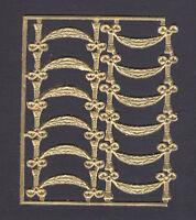 GOLD FOIL MAPLE LEAF AUTUMN  EMBOSSED SCRAP DRESDEN ORNAMENT EMBELLISH GERMANY