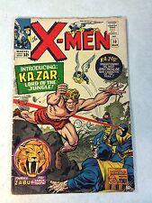 X-MEN #10 KIRBY, STAN LEE, 1ST SILVER AGE KAZAR, ZABU, 1965, BEAST, ANGEL!!