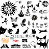 A variety of Car Sticker Truck Window Auto Bumper Laptop Wall Home Decor