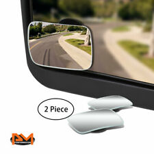 """PAIR ADJUSTABLE BLIND SPOT MIRROR SQUARE STYLE CONVEX BACK/REAR 2-SIDE VIEW 2"""""""
