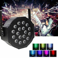 54W 18LED PAR RGB Can Stage Light DMX Disco Bar Wedding Strobe Party DJ Lighting