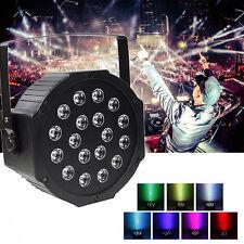 54W 18LED PAR RGB Can Stage Light DMX Disco Bar Wedding Strobe Party DJ Lighting