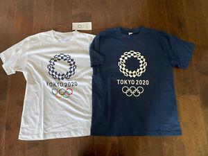 tokyo olympics 2020 official tshirts 2 medium navy white