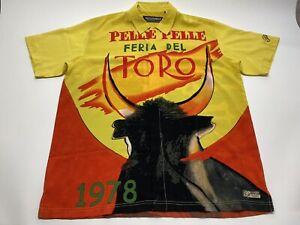 Pelle Pelle Marc Buchanan Men Shirt 2XL Féria Del Toro Yellow Polyester
