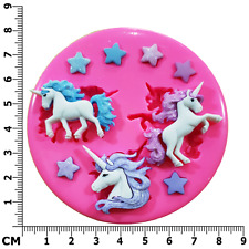 Magical Unicorns and Stars Silicone Mould by Fairie Blessings