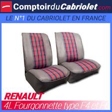 Garnitures sièges avant pour Renault 4L Type F4/F6 skaï gris et tissu écossais