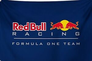 RED BULL Racing F1 Flag MAN CAVE GARAGE MOTORSPORT 150cm x 100cm with TRACKING