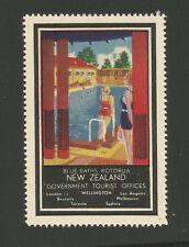 New Zealand Government Tourist Office advertising stamp (Blye Baths Rotorua)