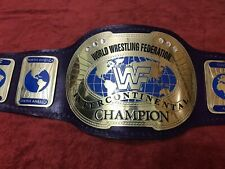 WWF IC OVAL INTERCONTINENTAL WRESTLING CHAMPIONSHIP BELT IN 4MM BRASS PLATES