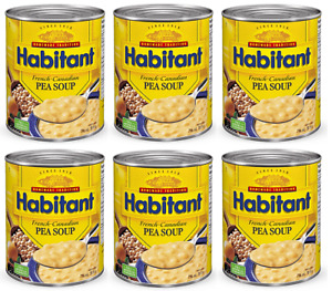 12 Cans Habitant French Canadian Pea Soup 796ml 28oz Each Canada FRESH DELICIOUS