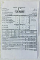 2014 NBC A TO Z set used CALL SHEET, Season 1 Episode 7