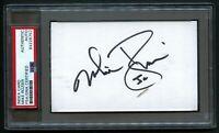 Mike Rozier signed autograph 3x5 card Heisman Winner 1982 Nebraska PSA Slabbed