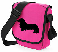 Bag with Long Haired Dachshund Shoulder Bags Dog Walkers Birthday Gift