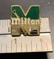 Milton Ontario Canada Vintage Metal Enamel Hockey Pin