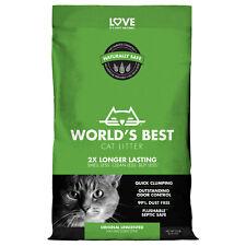 World's Best Cat Litter Clumping Formula, Outstanding Odor Control, 15 lbs