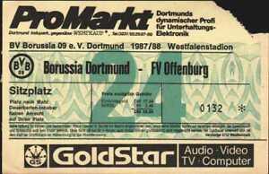3048 Ticket DFB-Pokal 87/88 Borussia Dortmund - FV Offenburg, 06.10.1987 Wdh.