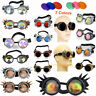Vintage Victorian Steampunk Goggles Glasses Welding Cyber Punk Goth Cosplay #b