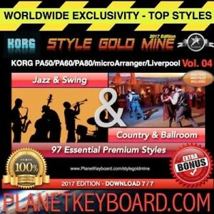 97 STYLES Swing Jazz & Country BallRoom Korg PA50 PA80 microArranger Liverpool