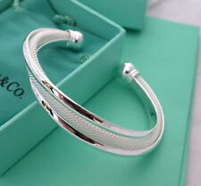 New Fashion 925 Jewelry Silver Dreamlike Women's Cuff net Bracelet Bangle C0003