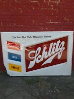 Rare Vintage 4ftx6ft Schlitz Beer Double Bubble Outdoor Light Up Plastic Sign