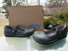 Alegria Belle Gray Tooled Leather Mary Jane Clogs Shoes Womens Size 38